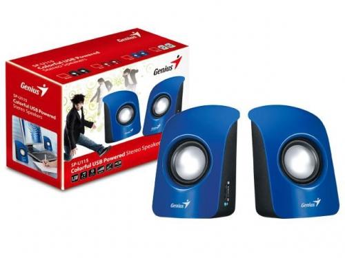 Компьютерная акустика Genius SP-U115 голубая, вид 1