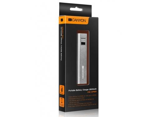Аксессуар для телефона Мобильный аккумулятор Canyon CNE-CSPB26W, белый, вид 3