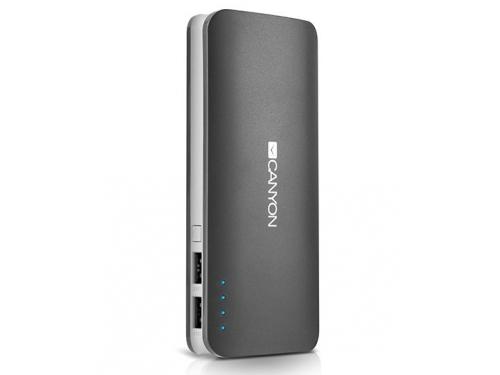 Аккумулятор универсальный Мобильный аккумулятор Canyon CNE-CPB130DG, тёмно-серый, вид 2