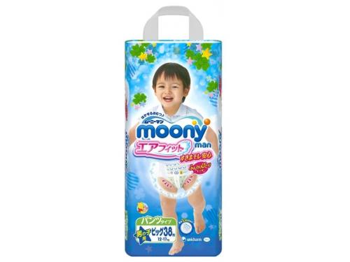 Подгузник MOONY для мальчиков 12-17 кг (38 шт.) XL трусики, вид 2