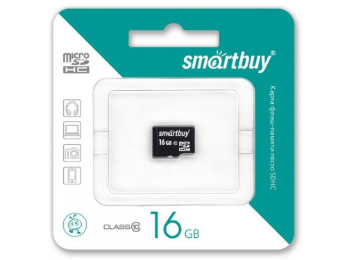 Карта памяти SmartBuy microSDHC Class 10 16GB, вид 1