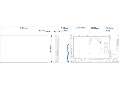 Информационная панель Philips BDL4270EL/00, черный, вид 2