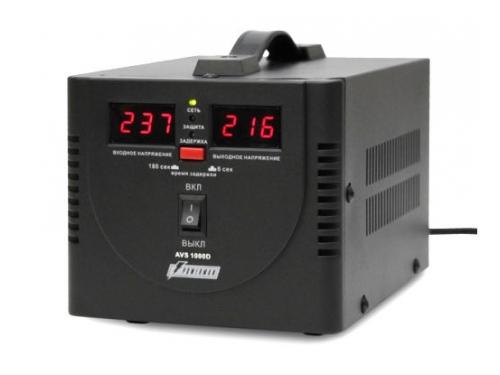 Стабилизатор напряжения Powerman AVS 1000D (релейный, 220 В, 1000 ВА), чёрный, вид 1