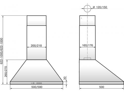 Вытяжка кухонная Elikor Вента 60П-650-К3Д, ваниль, вид 2