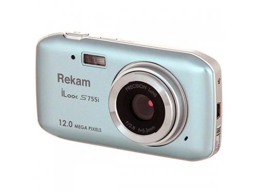 Цифровой фотоаппарат Rekam iLook S755i, серебристый металлик, вид 1
