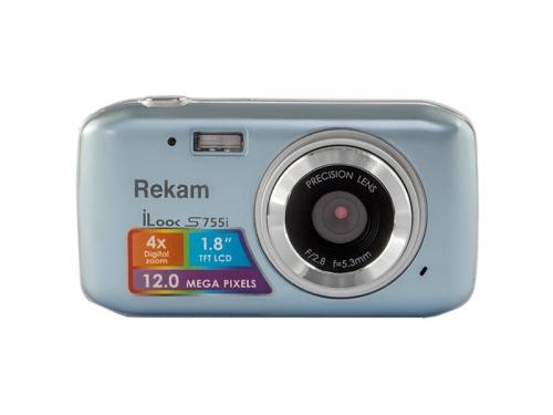 Цифровой фотоаппарат Rekam iLook S755i, серебристый металлик, вид 3