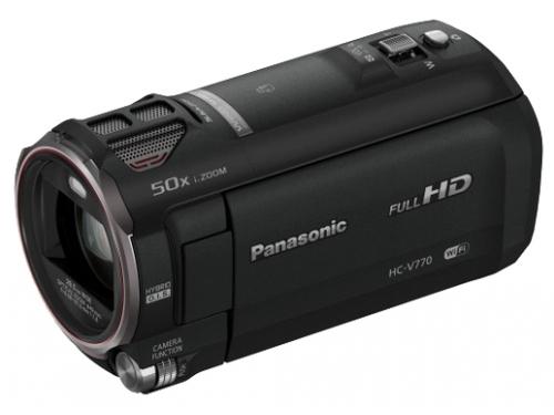Видеокамера Panasonic HC-V770, черная, вид 1