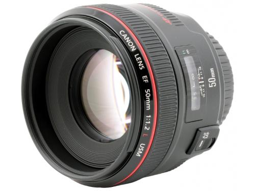 Объектив для фото Canon EF 50 mm f/1.2L USM, вид 1