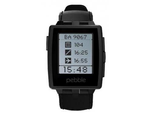 Умные часы Pebble Smartwatch Steel, черные, вид 1