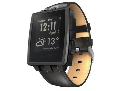 Умные часы Pebble Smartwatch Steel, черные, вид 3