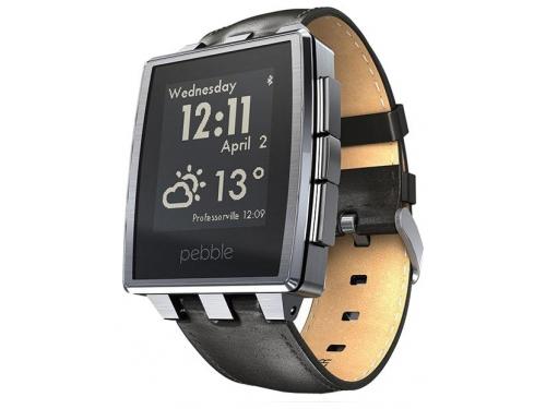 Умные часы Pebble Smartwatch Steel, черные, вид 6