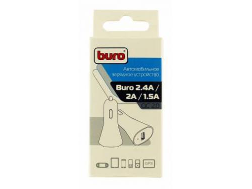 Зарядное устройство Buro 2.4A, автомобильное,TJ-186,черный, вид 3
