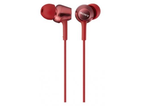 Наушники Sony MDR-EX250AP, красные, вид 1