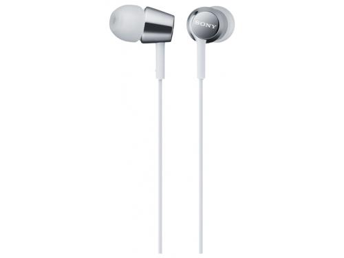Гарнитура для телефона SONY MDR-EX150AP белые, вид 1