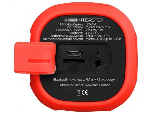 Портативная акустика InterStep SBS-120, красная, вид 3