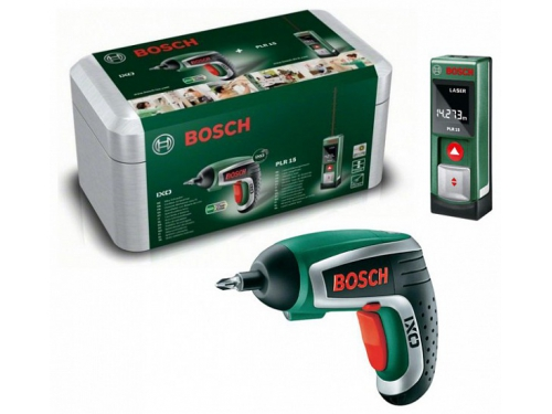 Шуруповерт набор инструментов Bosch IXO + PLR15, [603672003], вид 1