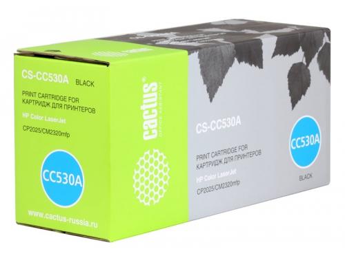 Картридж Cactus HP CS-CC530A (№304A) Чёрный, вид 1