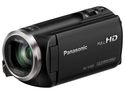 Видеокамера Panasonic HC-V260, черная, вид 1