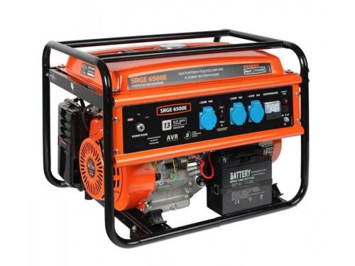 Электрогенератор Patriot SRGE 6500E, 220 В, 5500 Вт, бензин, АКБ [474103171], вид 1