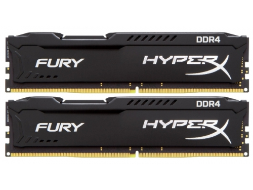 Модуль памяти DDR4 8192Mb 2666MHz Kingston 2*4Gb HyperX Fury Series HX426C15FBK2/8, вид 1