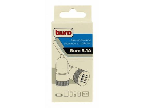 Зарядное устройство автомобильное, Buro 2.1A+1A универсальное (TJ-189), черный, вид 2