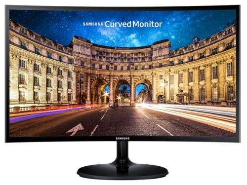Монитор Samsung C24F390FHI, черный, вид 2