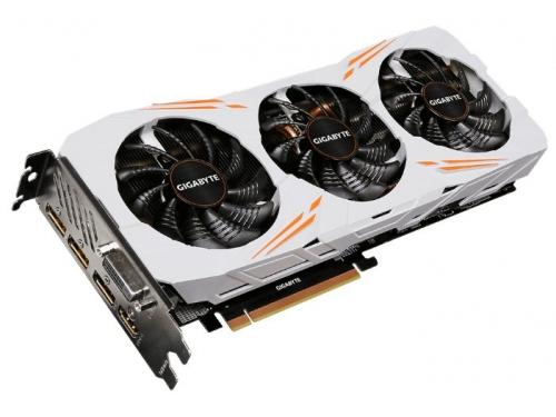Видеокарта GeForce Gigabyte GeForce GTX 1080 Ti 1544Mhz PCI-E 3.0 11264Mb 11010Mhz 352 bit DVI HDMI HDCP Gaming OC [GV-N108TGAMING OC-11GD], вид 3