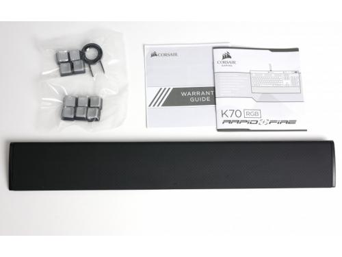 Клавиатура Corsair K70 RGB Rapidfire Cherry MX Speed silver RGB (CH-9101014-RU), черная, вид 11