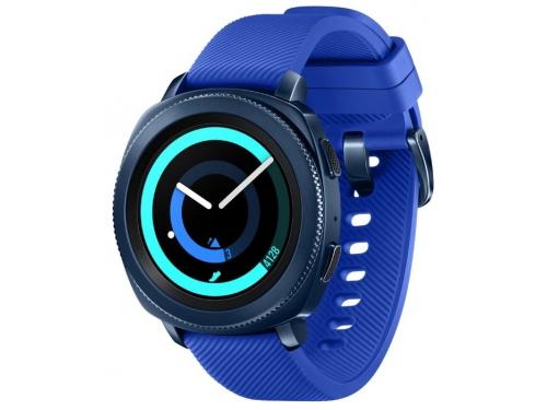 Умные часы Samsung Galaxy Gear Sport SM-R600NZBASER, синие, вид 1