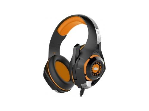 Гарнитура для ПК Crown CMGH-102T, черно-оранжевая, вид 1