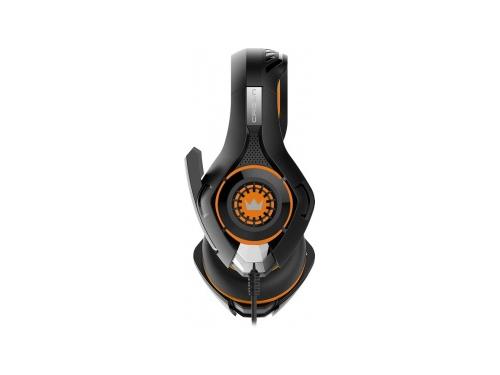 Гарнитура для ПК Crown CMGH-102T, черно-оранжевая, вид 2