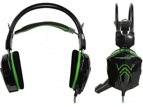 Гарнитура для ПК SmartBuy Rush Cobra SBHG-1200, черно-зеленая, вид 1