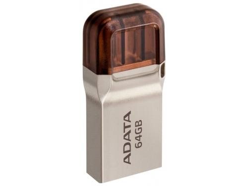 Usb-флешка Adata DashDrive UC360 64Gb, Золотая, вид 2