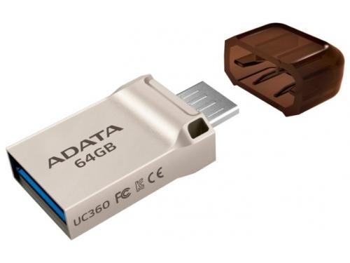 Usb-флешка Adata DashDrive UC360 64Gb, Золотая, вид 3