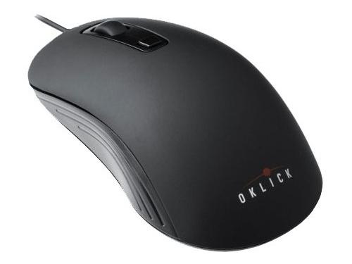 Мышь Oklick 155M Optical mouse, черная / серая, вид 2