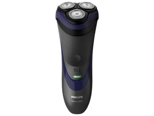 Электробритва Philips S3120/06, чёрно-синяя, вид 1