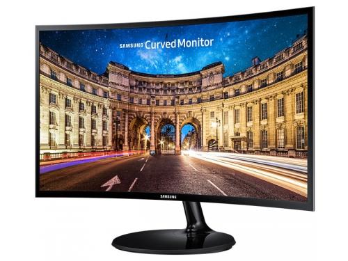 Монитор Samsung C24F390FHI, черный, вид 1