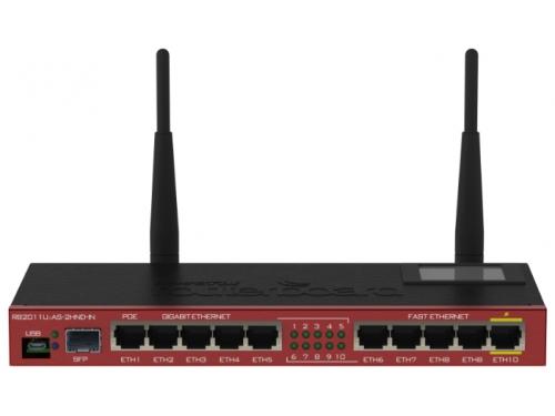 Роутер Wi-Fi MikroTik RB2011UiAS-2HnD-IN 802.11n, вид 1