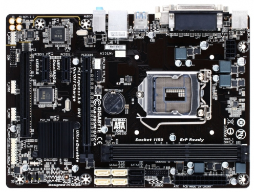 Материнская плата Gigabyte GA-B85M-D3V-A (rev. 1.0) (mATX, LGA1150, Intel B85, 4xDDR3), вид 1