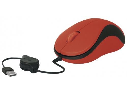 Мышь Defender MS-960 USB, красная, вид 3