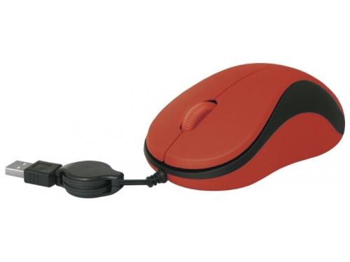 Мышь Defender MS-960 USB, красная, вид 2