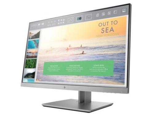 Монитор HP EliteDisplay E233, серебристый, вид 1