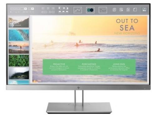 Монитор HP EliteDisplay E233, серебристый, вид 2