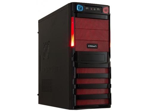 Корпус CROWN CMC-SM162 500W Black-Red, вид 1