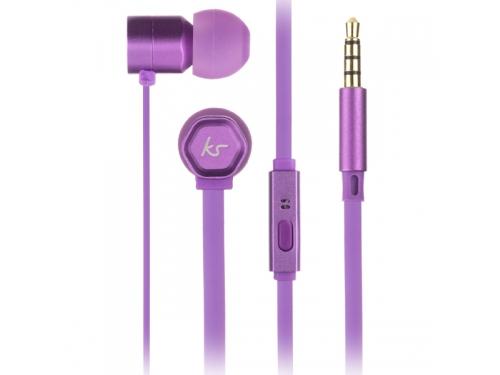 Гарнитура для телефона Kitsound Hive, фиолетовая, вид 1