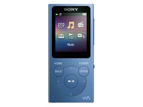 Аудиоплеер Sony Walkman NW-E394, синий, вид 1