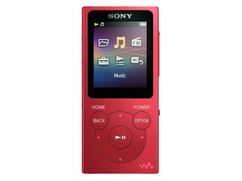 Аудиоплеер Sony Walkman NW-E394, красный, вид 1