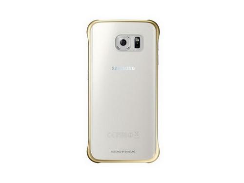 Чехол для смартфона Samsung для Samsung Galaxy S6 Edge Plus Clear Cover золотистый/прозрачный, вид 1