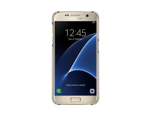 Чехол для смартфона Samsung для Samsung Galaxy S7 Clear Cover золотистый/прозрачный, вид 2