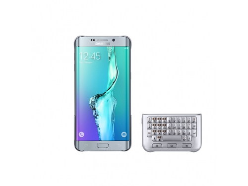 Чехол-клавиатура Samsung для Samsung Galaxy S6 Edge Plus Keyboard Cover серебристый, вид 2